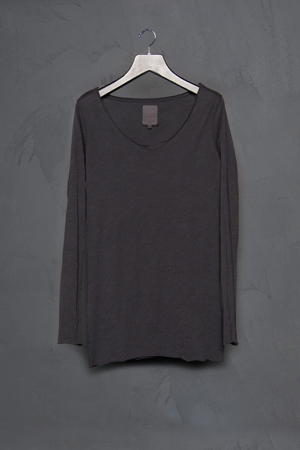 Thom / Krom Long Sleeve Basic Scoop Tee