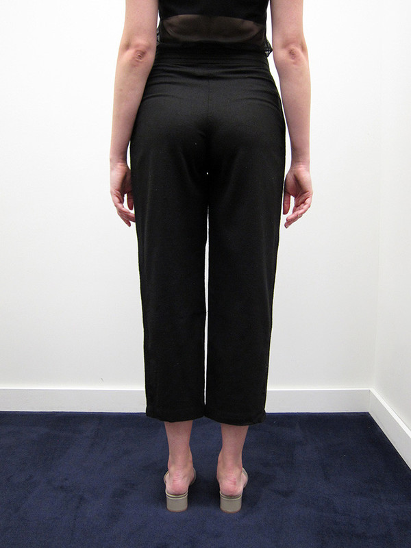 Electric Feathers Tuxedo Trouser, Black