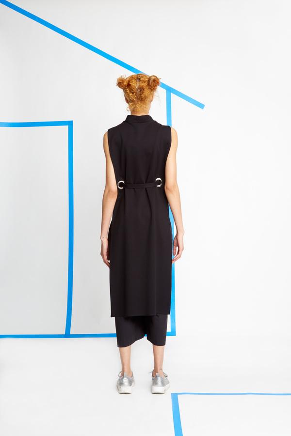 Wolcott-Takemoto Black Jumon Dicky Dress