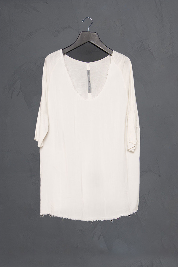 Raquel Allegra Drop Shoulder 3/4 Sleeve Tee
