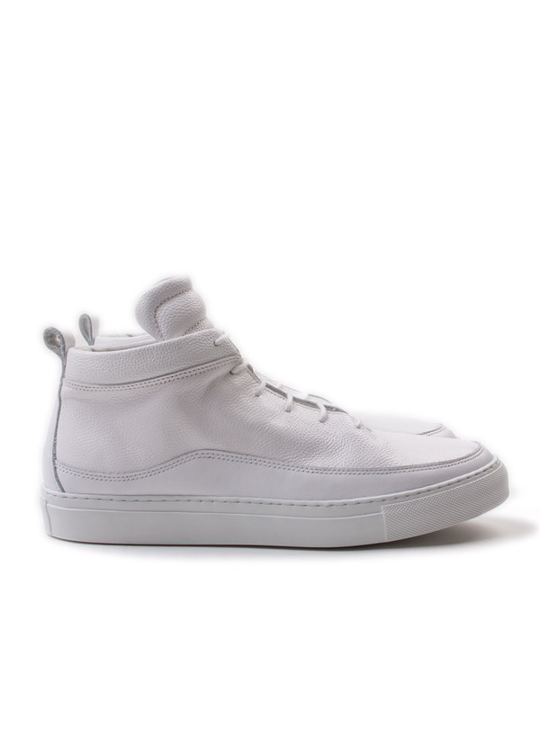 Men's Public School Braeburn Hi Top Pebbled Leather White