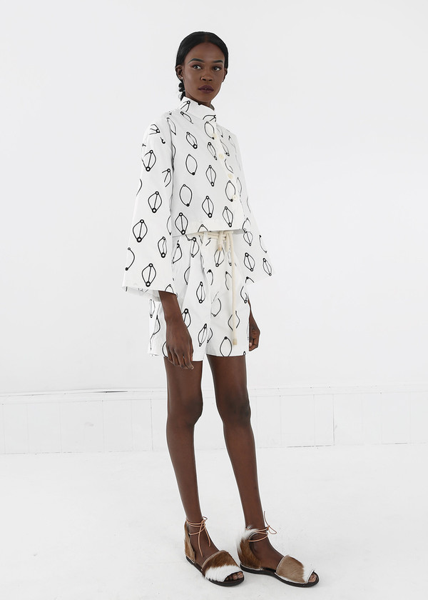 Delfina Balda Printed Armonia Button Up