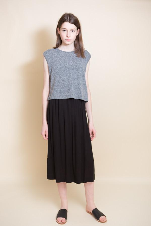 Midi Skirt / Black