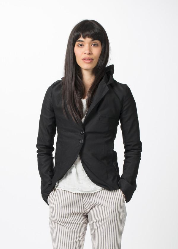 Hazel Brown Hooded Button Jacket