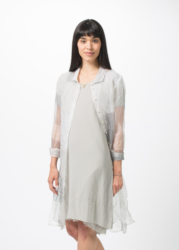 Rundholz Sheer Square Dress
