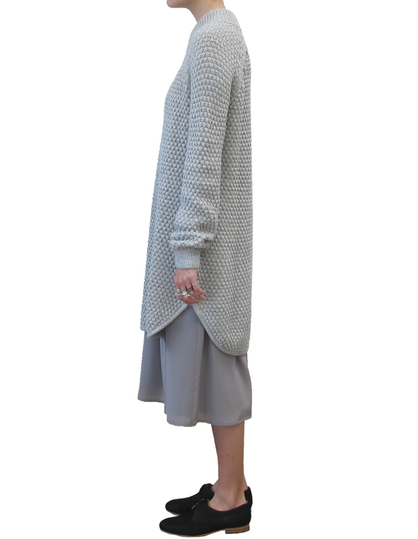 ALI GOLDEN RICE-STITCH SWEATER DRESS