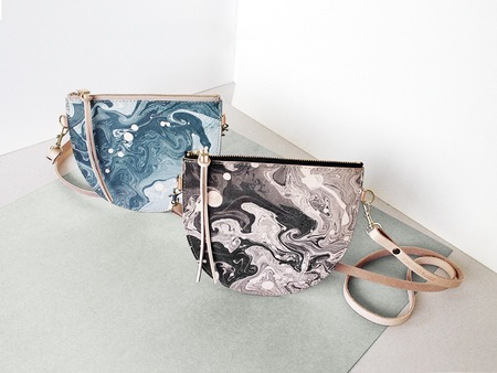 Scout & Catalogue LUNA PURSE - BLACK OR SLATE MARBLE