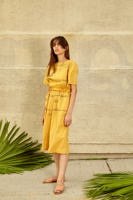 Tantuvi Gathered Jumpsuit- Sunray