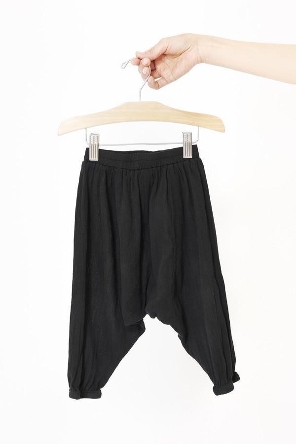 Black Crane Kids Accordian Pants (Black)