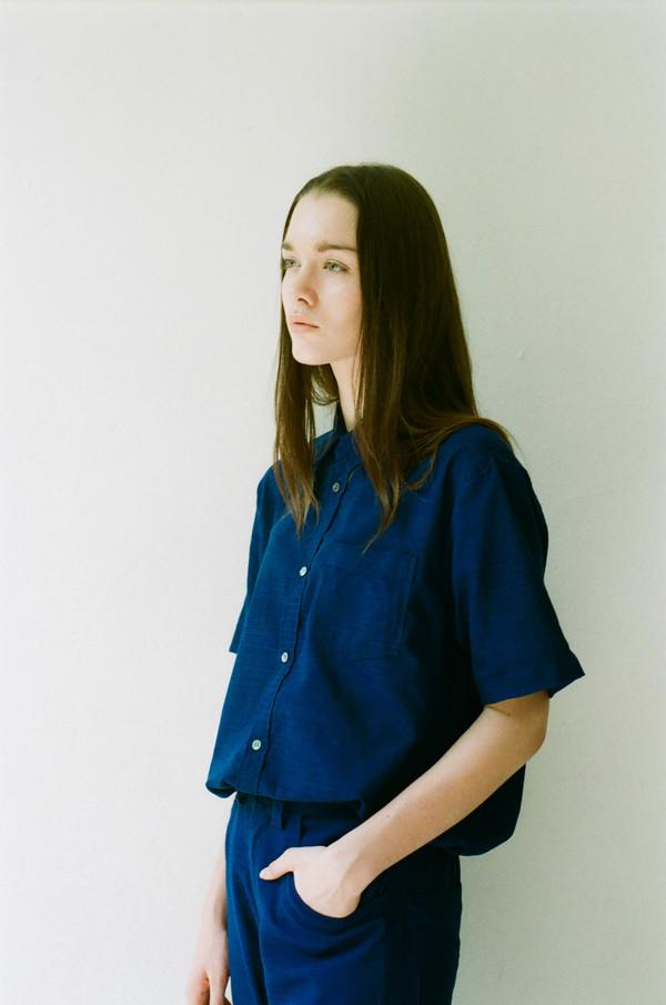 Seeker Studios Essential Short Sleeve Shirt - Indigo