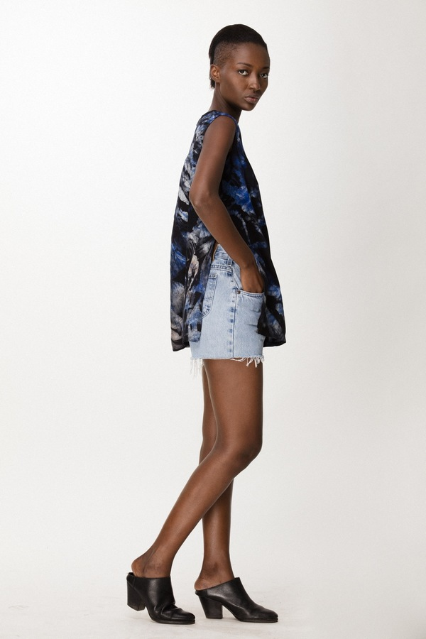 Osei-Duro Taifa Split Top in Multi Abstract