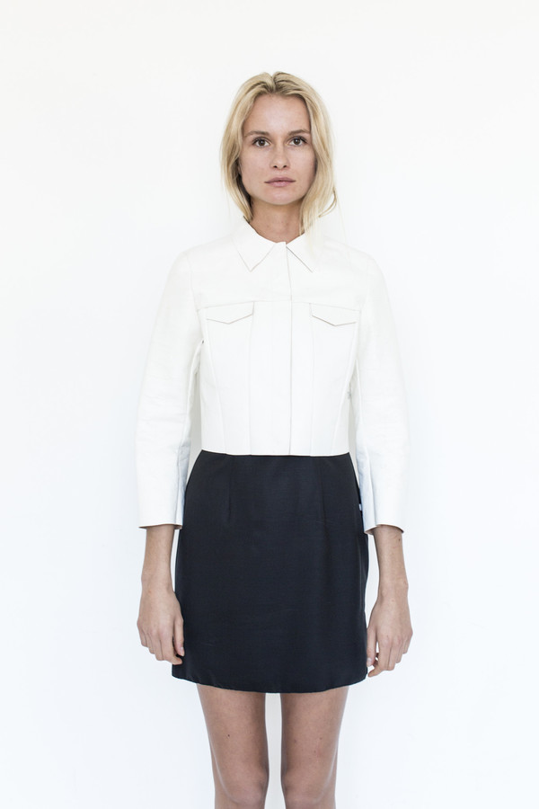 Gabriela Coll Garments Hand-lacquered Leather No.8 Jacket