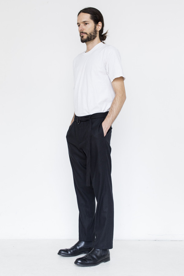 Assembly Raw Silk Pleat Pant