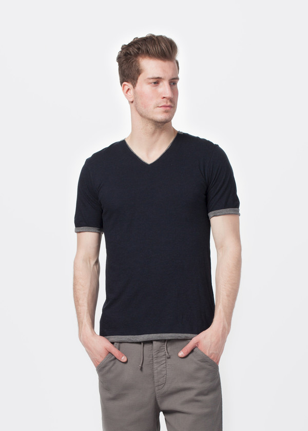 Men's Sage de Cret Double Layer V-Neck