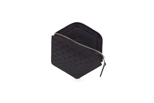 Nº31 Hexa Wallet Chequered in Black