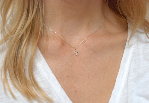 Bing Bang NYC - Skinny Cross Necklace