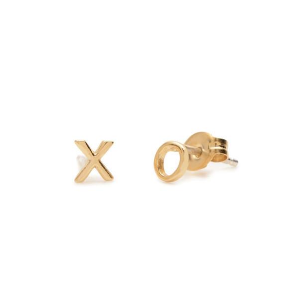 Bing Bang NYC XO Studs - Yellow Gold or Silver