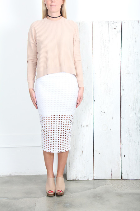 T By Alexander Wang CIRCULAR HOLE MIDI SKIRT