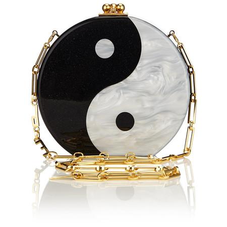 Edie Parker Oscar Yin Yang Chain Bag
