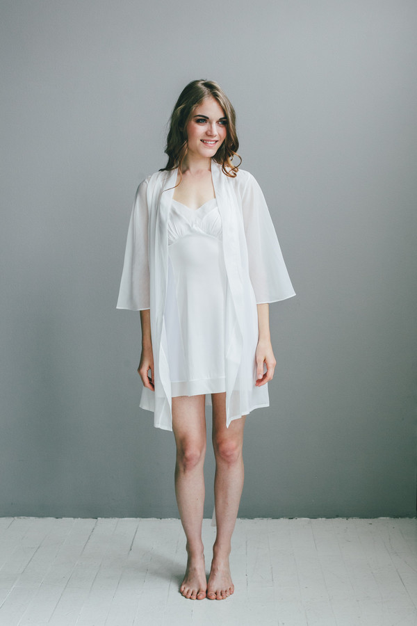 Salua Atelier Italian Cotton/Silk Short Robe