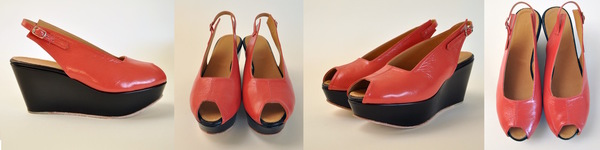 The Palatines levo slingback wedge sandal