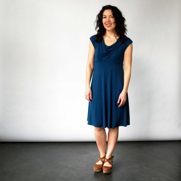 Curator Classic Dress in Teal