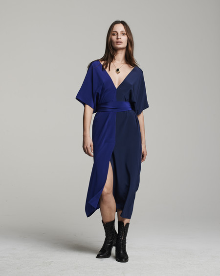 VOZ Two-Panel Dress - Cobalt
