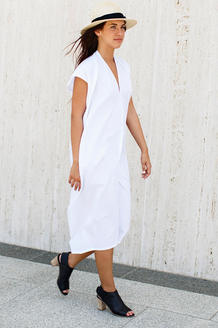 Miranda Bennett White Everyday Dress | Oversized Cotton