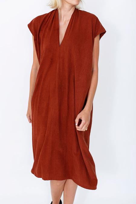 Miranda Bennett Rust Everyday Dress, Oversized, Silk