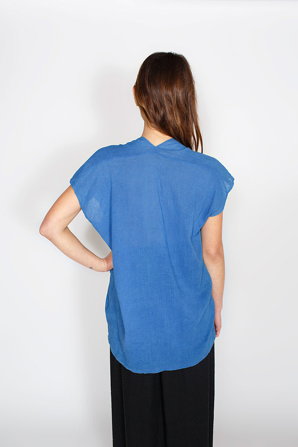 Miranda Bennett Indigo Everyday Top, Cotton