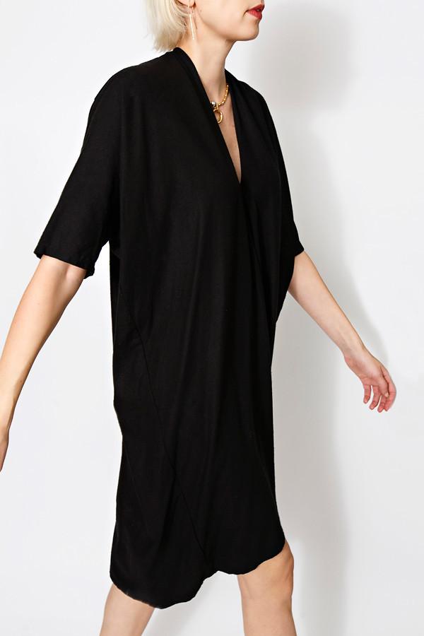 Miranda Bennett Black Muse Dress | Oversized Silk