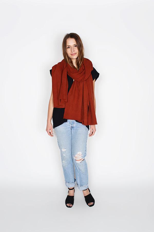 Miranda Bennett Rust Raw Silk Textile