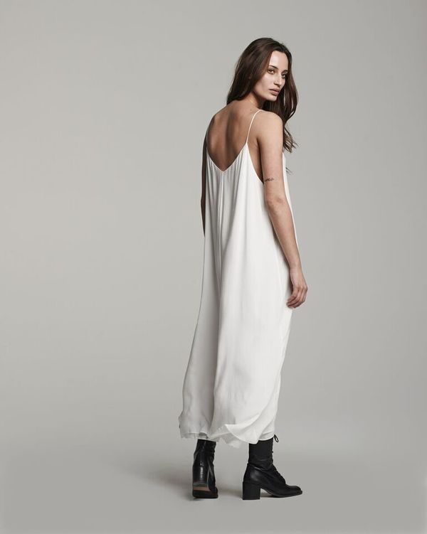 VOZ Double Layer Cami Dress - White