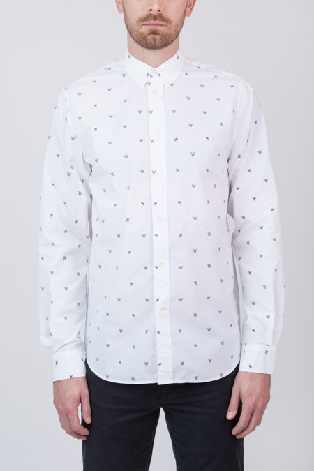 Men's Wood Wood Damien Shirt White