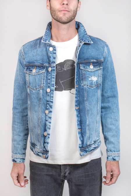 Men's Won Hundred Fourteen Trash Denim Jacket