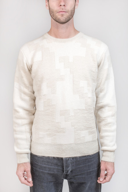 Men's Maison Kitsune Prince Of Wales Sweater