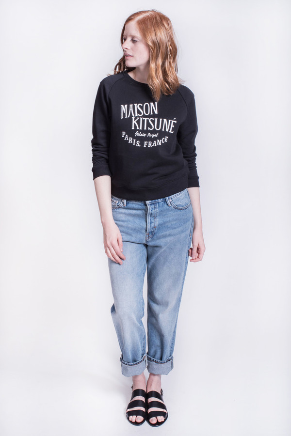 Maison Kitsune Sweatshirt Palais Royal Black