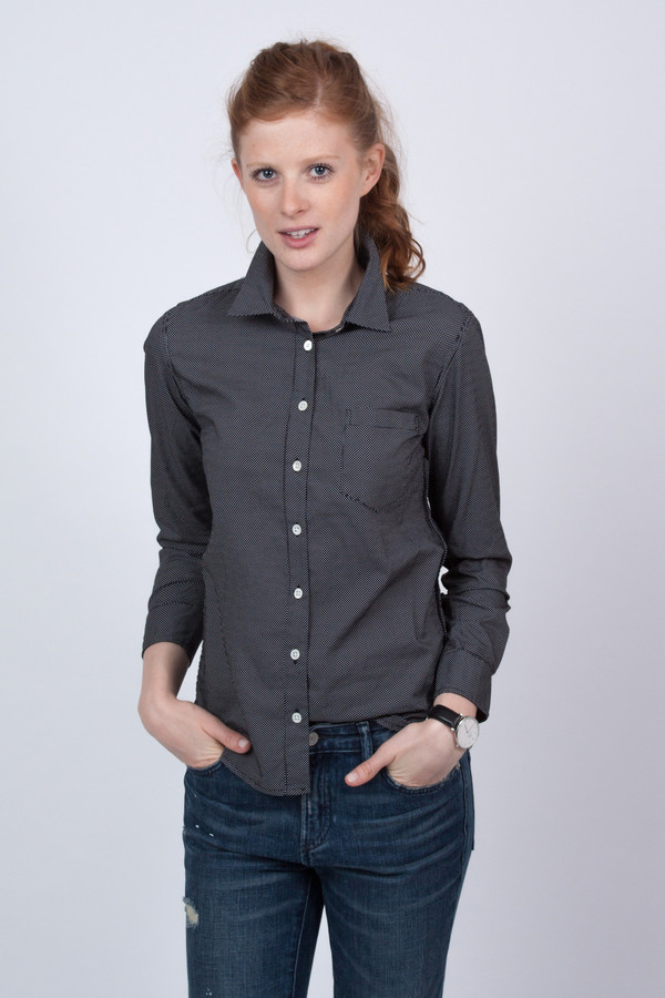 Steven Alan White Dot Petit Seam Shirt