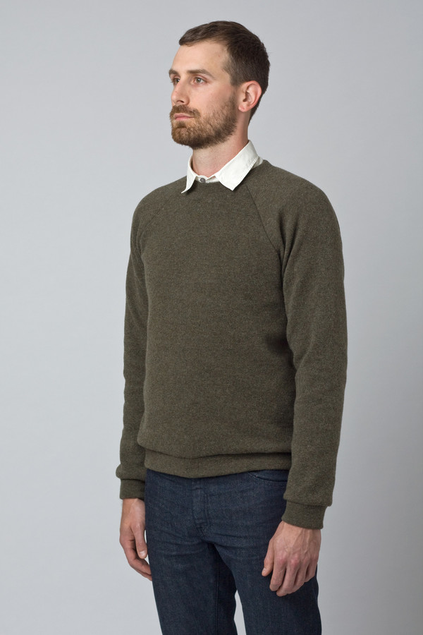 Men's Raleigh Denim Wool Sweatshirt Moss