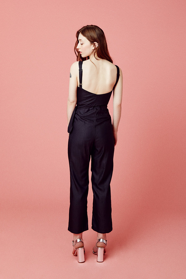 Samantha Pleet Curtain Jumpsuit