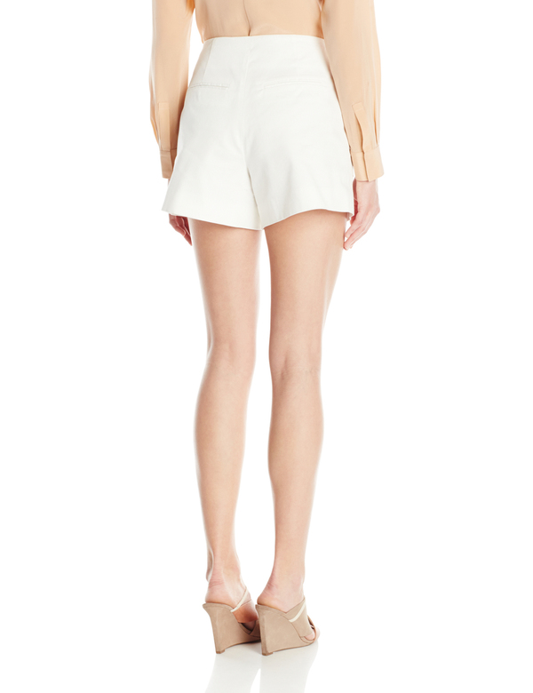 Vincetta White leather Pocket Short