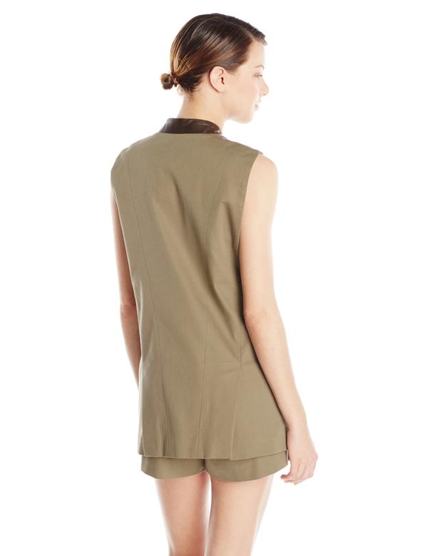 Vincetta Olive Notch Vest