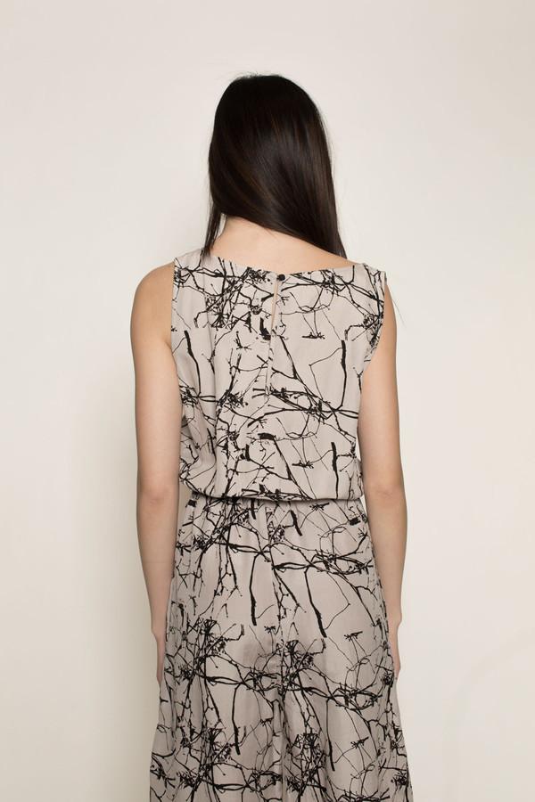 H. Fredriksson Crop Jumpsuit in Twigs Linen/Silk
