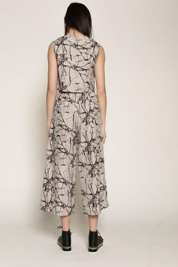 H. Fredriksson Culottes in Twigs Linen/Silk