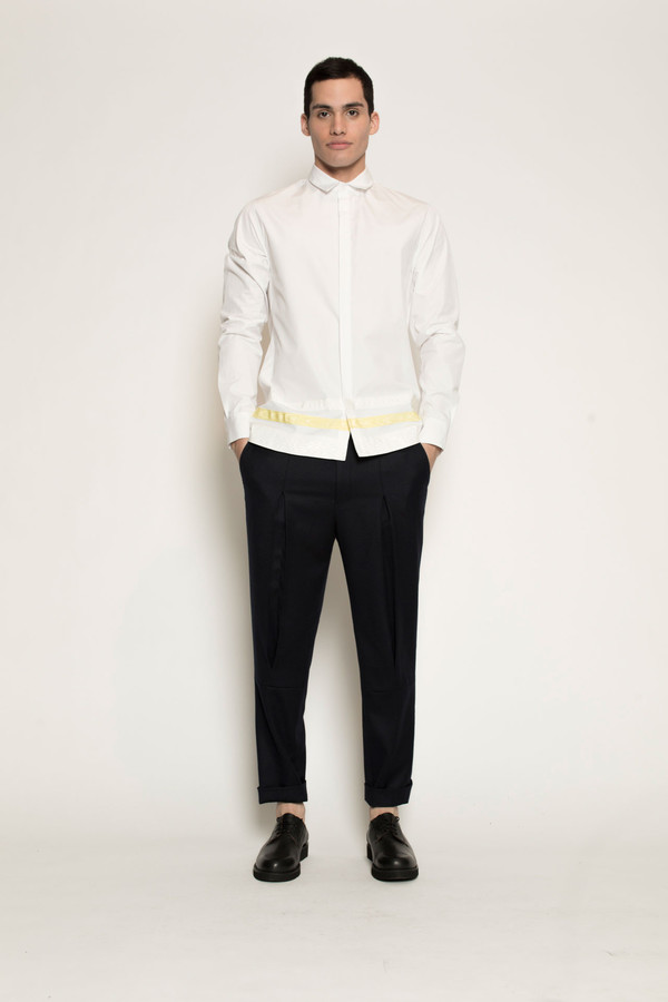 Men's Kenneth Ning Grosgrain Shirt in White