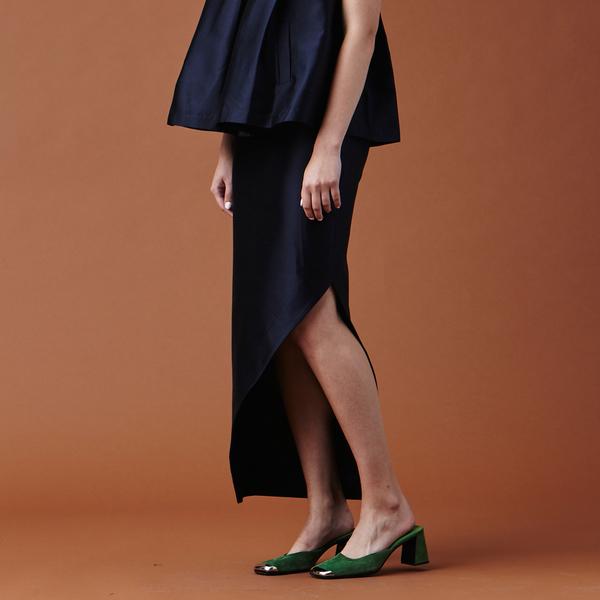 Nikki Chasin Adria Slit Skirt - Dark Navy