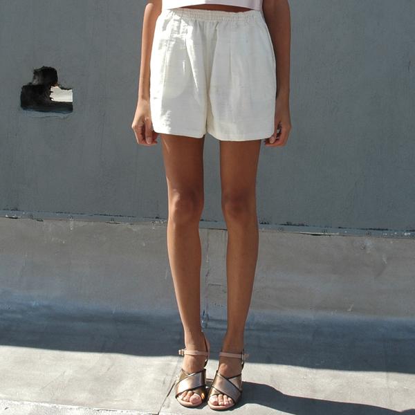 Nikki Chasin Volta Slub Silk Shorts