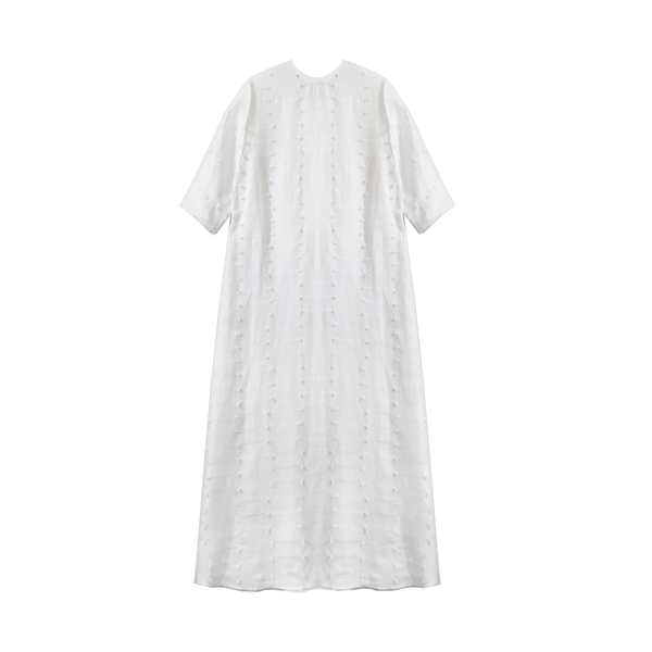 Nikki Chasin Alma Dress - Linen Eyelash