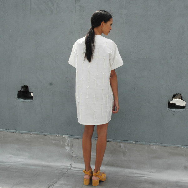 Nikki Chasin Tate Tassel Dress - Ivory