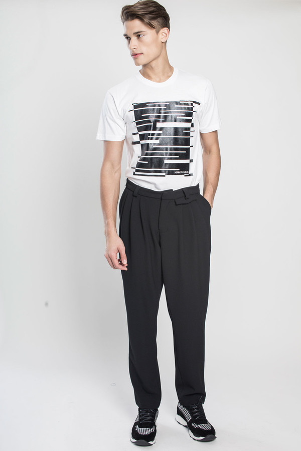 Men's Kenneth Ning Rubber Print T-Shirt in White